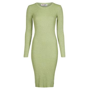 tekstylia Damskie Sukienki długie Yurban PAUWEL Zielony