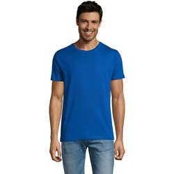 tekstylia Męskie T-shirty z krótkim rękawem Sols Martin camiseta de hombre Azul