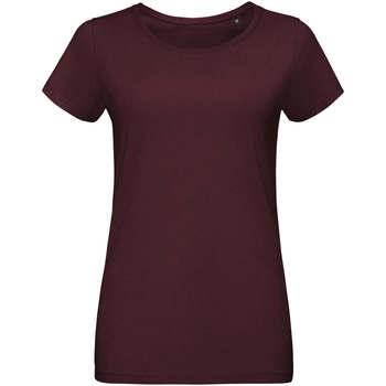 tekstylia Damskie T-shirty z krótkim rękawem Sols Martin camiseta de mujer Burdeo