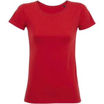 tekstylia Damskie T-shirty z krótkim rękawem Sols Martin camiseta de mujer Rojo