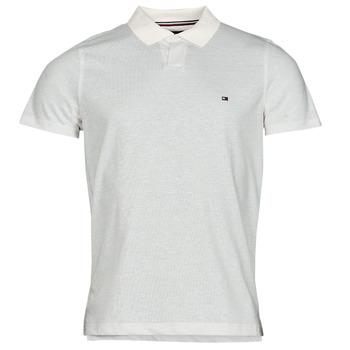 tekstylia Męskie Koszulki polo z krótkim rękawem Tommy Hilfiger LINEN JERSEY SLIM PO, AF2 Biały