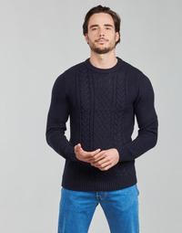 tekstylia Męskie Swetry Jack & Jones JJCRAIG Marine