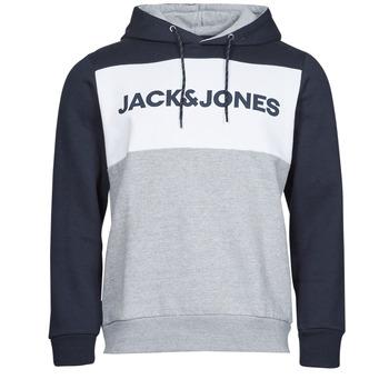 tekstylia Męskie Bluzy Jack & Jones JJELOGO Marine