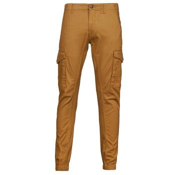 tekstylia Męskie Spodnie bojówki Jack & Jones JJIPAUL Camel