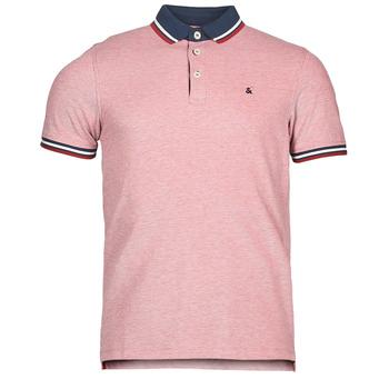 tekstylia Męskie Koszulki polo z krótkim rękawem Jack & Jones JJEPAULOS Czerwony