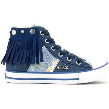 Buty Dziewczynka Trampki wysokie Lulu LV010060T Niebieski