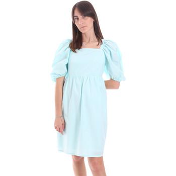 tekstylia Damskie Sukienki krótkie Fracomina F321SD1004W40001 Niebieski