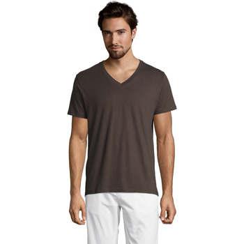 tekstylia Męskie T-shirty z krótkim rękawem Sols Master camiseta hombre cuello pico Gris