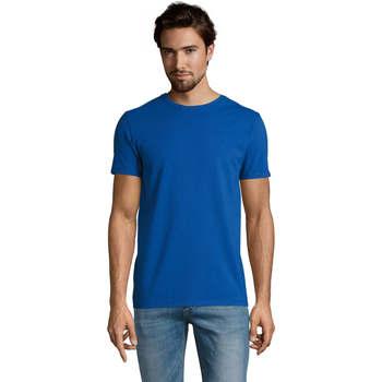 tekstylia Męskie T-shirty z krótkim rękawem Sols Camiserta de hombre de cuello redondo Azul