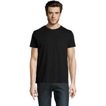 tekstylia Męskie T-shirty z krótkim rękawem Sols CAMISETA DE MANGA CORTA Negro