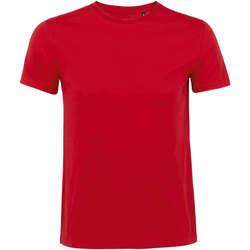 tekstylia Męskie T-shirty z krótkim rękawem Sols CAMISETA DE MANGA CORTA Rojo