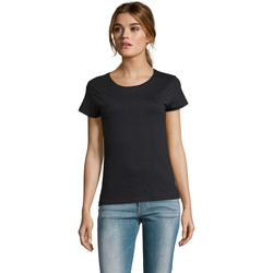tekstylia Damskie T-shirty z krótkim rękawem Sols CAMISETA DE MANGA CORTA Negro