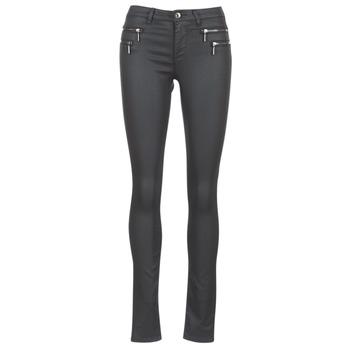 tekstylia Damskie Spodnie z pięcioma kieszeniami Only NEW OLIVIA COATED Czarny