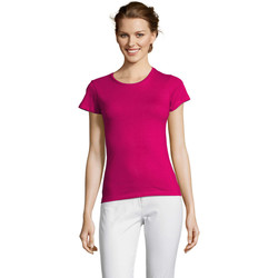 tekstylia Damskie T-shirty z krótkim rękawem Sols Miss camiseta manga corta mujer Burdeo