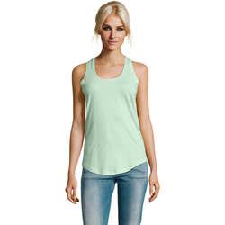 tekstylia Damskie Topy na ramiączkach / T-shirty bez rękawów Sols Moka camiseta mujer sin mangas Verde