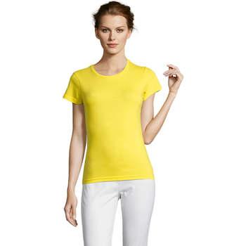 tekstylia Damskie T-shirty z krótkim rękawem Sols Miss camiseta manga corta mujer Amarillo