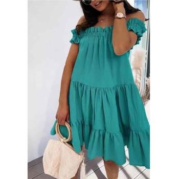 tekstylia Damskie Sukienki krótkie Fashion brands R5119-VERT-D-EAU Zielony / Water