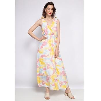 tekstylia Damskie Sukienki krótkie Fashion brands R185-JAUNE Żółty