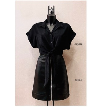 tekstylia Damskie Topy / Bluzki Fashion brands ERMD-13819-N-BLACK Czarny