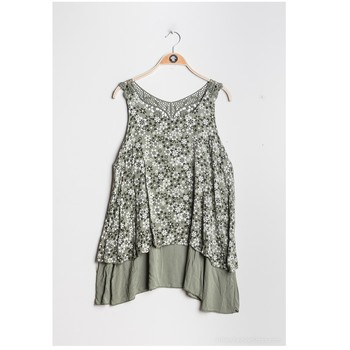 tekstylia Damskie Topy / Bluzki Fashion brands 9673-KAKI Kaki