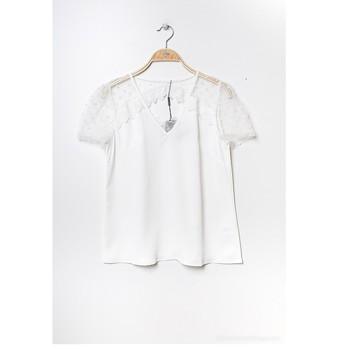 tekstylia Damskie Topy / Bluzki Fashion brands K5518-WHITE Biały