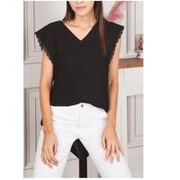 tekstylia Damskie Topy / Bluzki Fashion brands F2106-BLACK Czarny