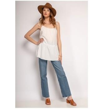 tekstylia Damskie Topy / Bluzki Fashion brands 490-WHITE Biały