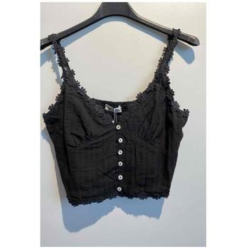 tekstylia Damskie Topy / Bluzki Fashion brands 6133-BLACK Czarny
