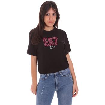 tekstylia Damskie T-shirty z krótkim rękawem Ea7 Emporio Armani 3KTT23 TJ1TZ Czarny