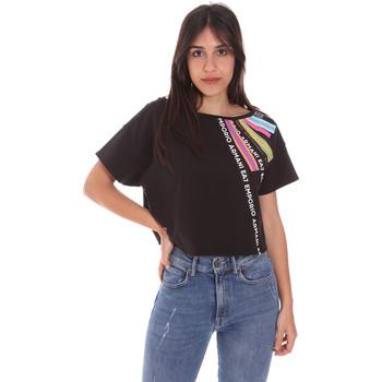 tekstylia Damskie T-shirty z krótkim rękawem Ea7 Emporio Armani 3KTT40 TJ39Z Czarny