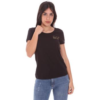 tekstylia Damskie T-shirty z krótkim rękawem Ea7 Emporio Armani 8NTT65 TJ28Z Czarny