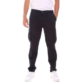 tekstylia Męskie Spodnie bojówki Lumberjack CM80747 007EU Niebieski