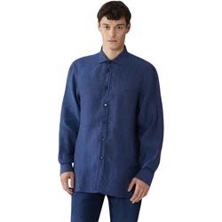 tekstylia Męskie Koszule z długim rękawem Trussardi 52C00212-1T002248 Niebieski