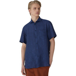 tekstylia Męskie Koszule z krótkim rękawem Trussardi 52C00213-1T002248 Niebieski