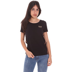 tekstylia Damskie T-shirty z krótkim rękawem Ea7 Emporio Armani 3KTT51 TJ9VZ Czarny
