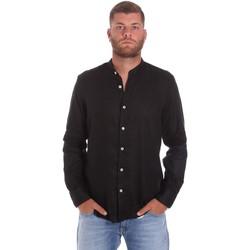 tekstylia Męskie Koszule z długim rękawem Refrigiwear RM0C10100LI9110 Czarny