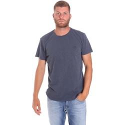 tekstylia Męskie T-shirty z krótkim rękawem Lumberjack CM60343 021EU Niebieski