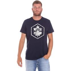 tekstylia Męskie T-shirty z krótkim rękawem Lumberjack CM60343 023EU Niebieski