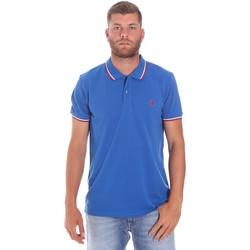 tekstylia Męskie Koszulki polo z krótkim rękawem Lumberjack CM45940 016EU Niebieski