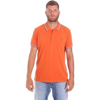 tekstylia Męskie Koszulki polo z krótkim rękawem Lumberjack CM45940 016EU Pomarańczowy