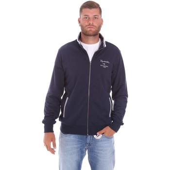 tekstylia Męskie Bluzy Key Up 2F451 0001 Niebieski