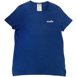 tekstylia Damskie T-shirty z krótkim rękawem Diadora 102175882 Niebieski