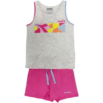 tekstylia Dziecko Zestawy dresowe Diadora 102175900 Szary