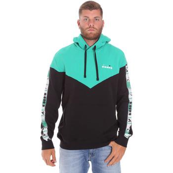 tekstylia Męskie Bluzy Diadora 502176092 Czarny