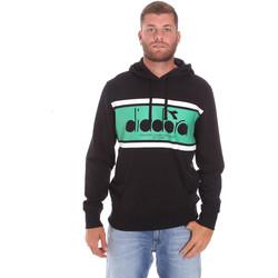 tekstylia Męskie Bluzy Diadora 502173625 Czarny