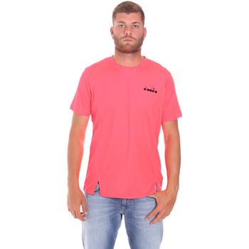 tekstylia Męskie T-shirty z krótkim rękawem Diadora 102175681 Różowy