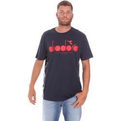 tekstylia Męskie T-shirty z krótkim rękawem Diadora 502176630 Niebieski