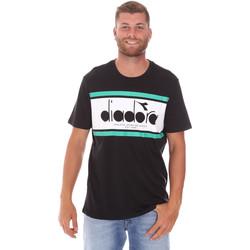 tekstylia Męskie T-shirty z krótkim rękawem Diadora 502176632 Czarny