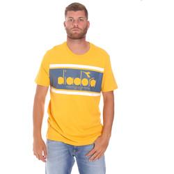 tekstylia Męskie T-shirty z krótkim rękawem Diadora 502176632 Żółty