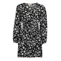 tekstylia Damskie Sukienki krótkie Moony Mood PAPIS Czarny / Biały